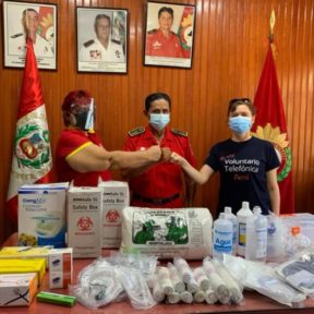 Fundación Telefónica Movistar dona equipos médicos de primera línea a bomberos de Iquitos